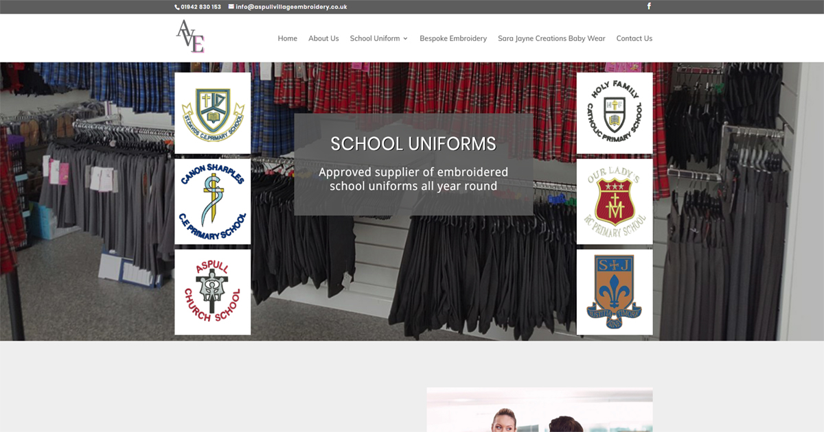 Aspull Village Embroidery - Local Primary & High School